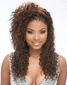 Hairstyles Braids Curly And Braids Hairstyle Updo Curly And