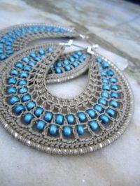Crochet Hoops Tutorial, PDF Pattern, Jewelry Tutorial ...