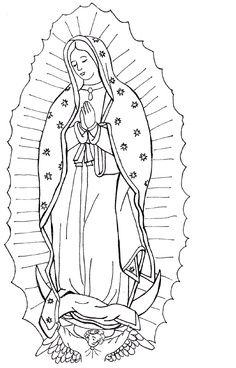 our lady of guadalupe coloring page. free printable on