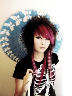 Visual Kei Long Hair Man Bangs Hair Of Two Or More Colors