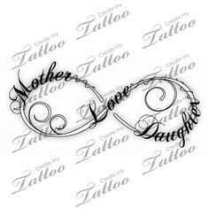 Love tattoos, Tattoo infinity and Mother daughters on