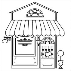 Library Building Coloring Pages: Library Building Coloring