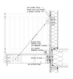 Second-Story Balconies- example of cable bracket & spacers