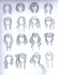 Anime Girl Hairstyles Google Search Paper Doll Accessories