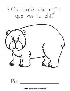 Oso pardo, oso pardo, que ves ahi? Students' Mini book