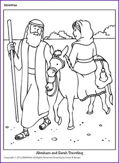 Old Sunday School crafts: Abram (Abraham) moves to a new
