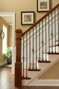 outdoor stair railing ideas Staircase Craftsman with ...