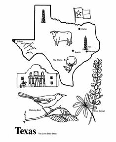1000+ images about Texas Coloring Page on Pinterest