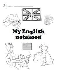 Pages de garde du cahier d'Anglais (L'école de petite