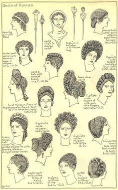 ANCIENT GREEK WOMENS FASHION Women's Hairstyles And Accesories