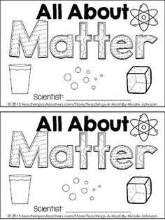 States of Matter FREEBIE! Students will cut out the