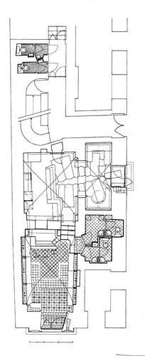 Floor-plan for Hotel Tassel, by Victor Horta ; Brussels