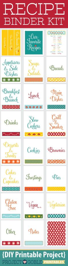 recipe pages on pinterest binders free recipes and