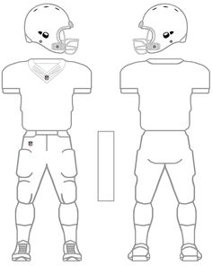 Printable Football Helmet Template from PrintableTreats