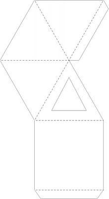 printable #templates.......Pyramid Box Template