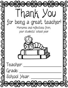 Teacher Appreciation, End Of Year Teacher Gift, Gift For