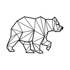Bear Animal, Printable Geometric Art, Geometric Bear