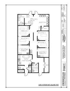 Example of Chiropractic Office Floor Plan, Multi-Doctor