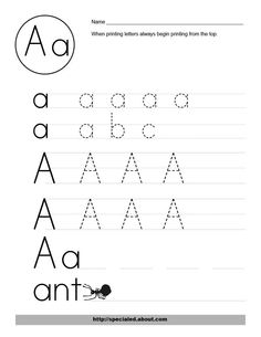 A-Z: Capital Letter Tracing Worksheets (there are PLENTY