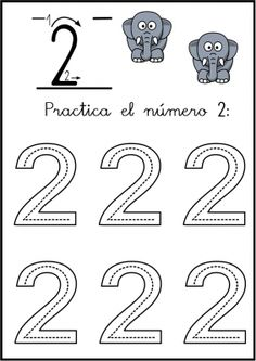 New tracing worksheet: Number 2. Download, print and trace