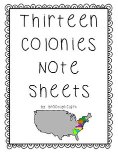 This is a set of notetaking sheets for the thirteen