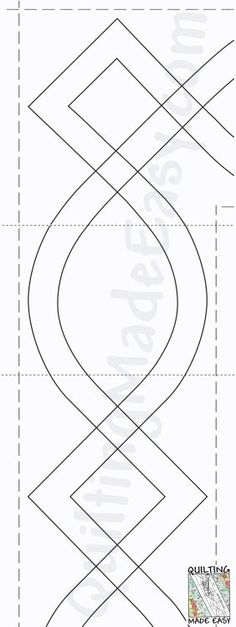 FMQ border template: single line scallop. Includes corner