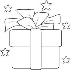 Christmas present pattern. Use the printable outline for