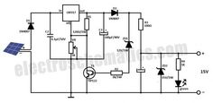 Solar Battery Charger Circuit using LM317 Voltage