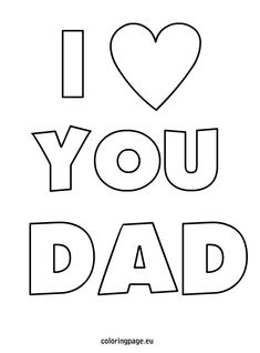 Father's Day Card Burst Coloring Page