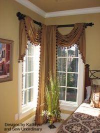 Curtains on Pinterest | Corner Curtain Rod, Window ...