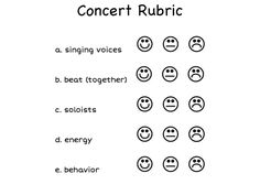 Rubrics and Concerts on Pinterest