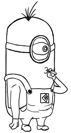 Anime Movie Despicable Me Minion Coloring Sheets Free For