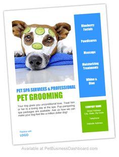 Printable Pdf Pet Grooming Gift Certificates & Display