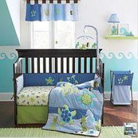 Kidsline Rainbow Fish Ocean Nursery Crib Quilt Blue EUC ...