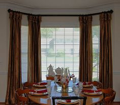 Bay Window Treatment Using Medallions MEDALLIONS