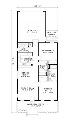 Small Low Cost Economical 2 Bedroom 2 Bath 1200 Sq Ft