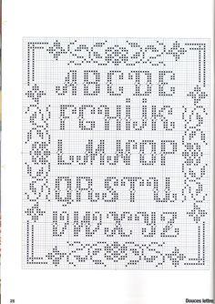 Mønster til bokstaver? (strikking/bokstaver