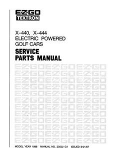 EZGO 28641G01 2001 Owners Manual for Electric Personnel