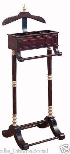 bedroom wardrobe chair valet log high vintage gentlemans wooden stand suit clothing hanger butler organizer | home storage ...
