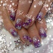 purple winter christmas snowflake