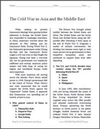 Origins Of The Cold War Worksheet. Worksheets. Ratchasima ...