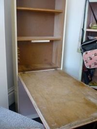 pull down table on Pinterest | Wall Tables, Wall Desk and ...