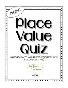 Writing numbers, Place values and Coaches on Pinterest