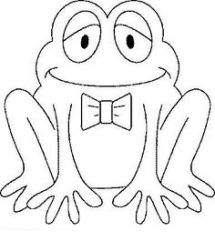 valentines coloring pages Frog love Valentines day