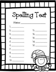 1000+ images about spelling test forms on Pinterest