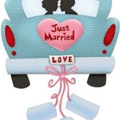 Diy Wedding Chair Covers Pinterest Lifetime Stacking Chairs Black Just Married Car   Hochzeit Färben, Und Stempel