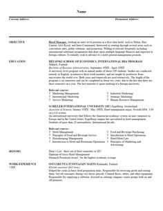resume outlines examples - Examples Of Entry Level Resumes