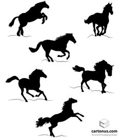 Crochet patterns horse silhouette afghan graph e-mailed