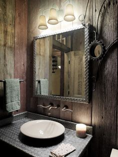 Mens Bathroom Decor on Pinterest  Locker Room Bathroom Barber Shop Decor and Barbershop Design