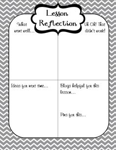 This free file features a student learning self-reflection